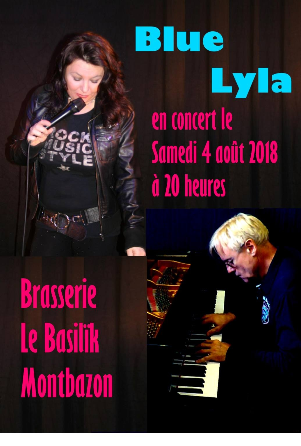 Visuel Concert Blues -Blue Lyla