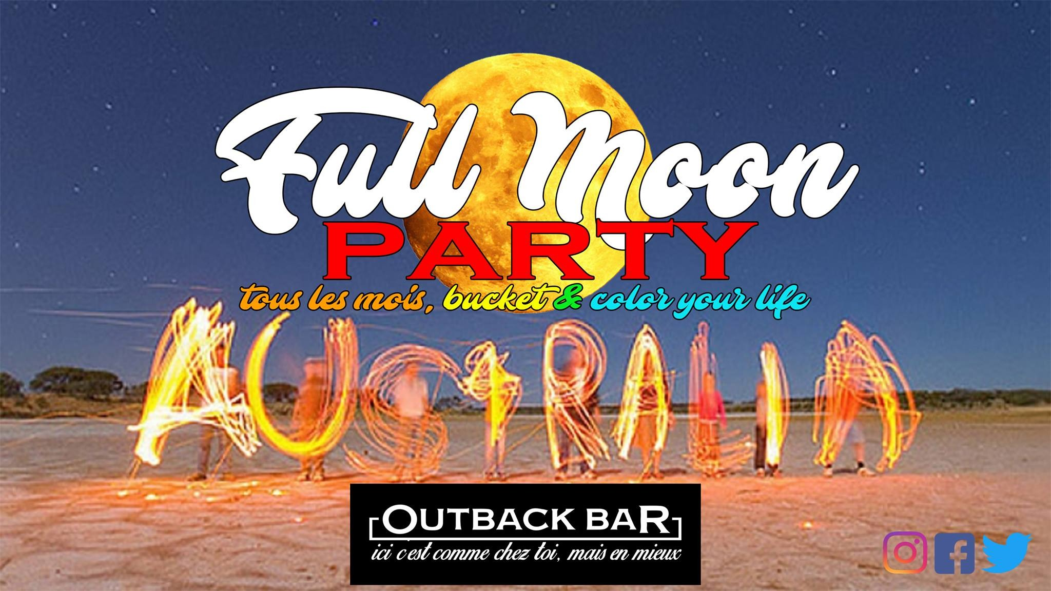 Visuel FULL MOON Party @Outback